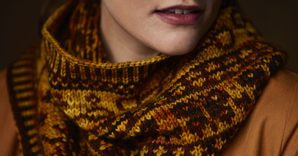 <em>Knitting Traditions</em> 2018: Wings & Keys Cowl