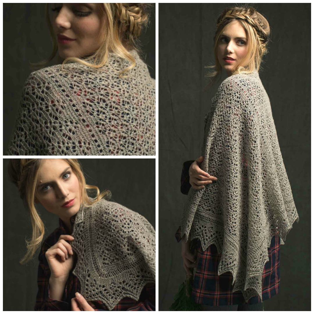 fc04559814a51 The Woodland Lace Stole is a classic Shetland lace stole with traditional  construction starting from a