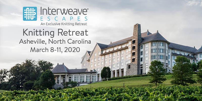 Join Interweave Escapes in Asheville, North Carolina March 8–11, 2020 with Instructor Norah Gaughan
