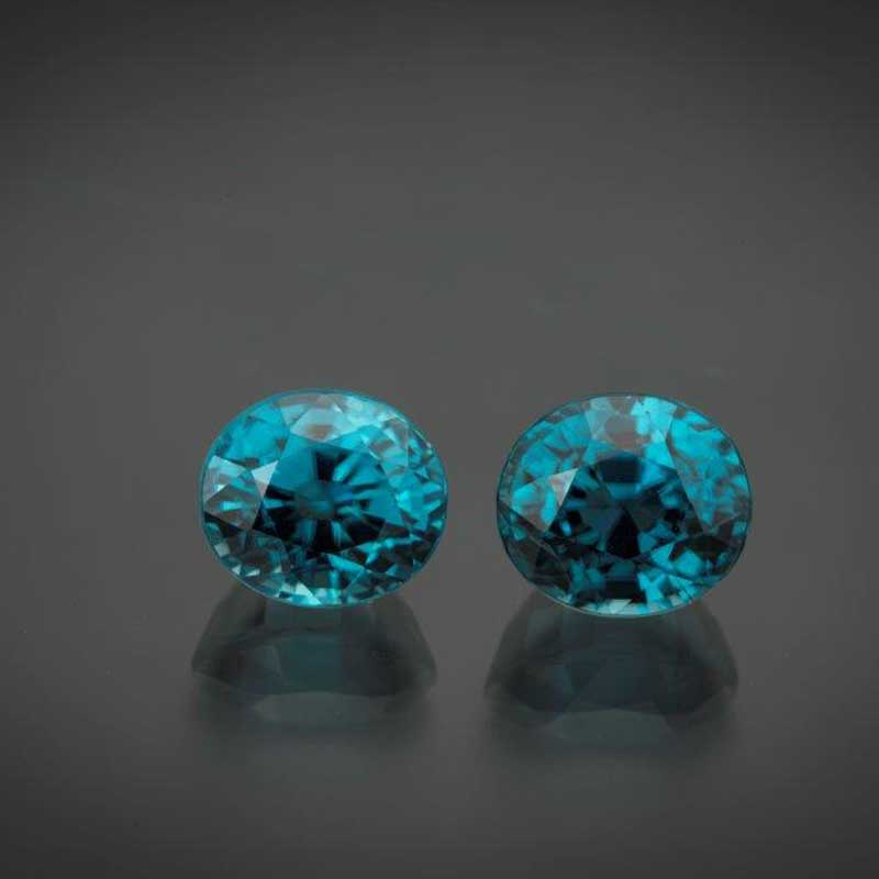 Beautiful blue zircon is a great alternative birthstone choice for December.