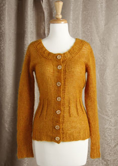 Knitting Gallery - Afterthought Darts Cardi  Bertha