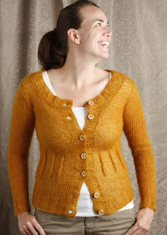 Knitting Gallery - Afterthought Darts Cardi  erin