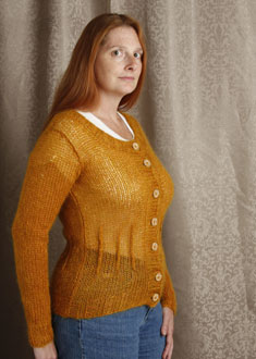 Knitting Gallery - Afterthought Darts Cardi Kat