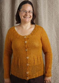 Knitting Gallery - Afterthought Darts Cardi  Sanid