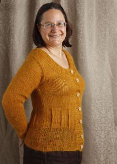 Knitting Gallery - Afterthought Darts Cardi  Sandi