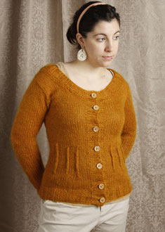 Knitting Gallery - Afterthought Darts Cardi  Stef