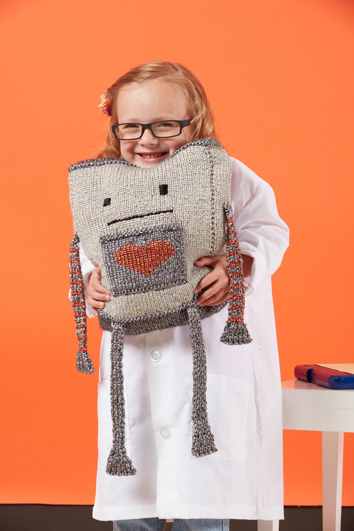 Mr. Robotics knitting pattern from Love of Knitting Toys by Grace Akhrem