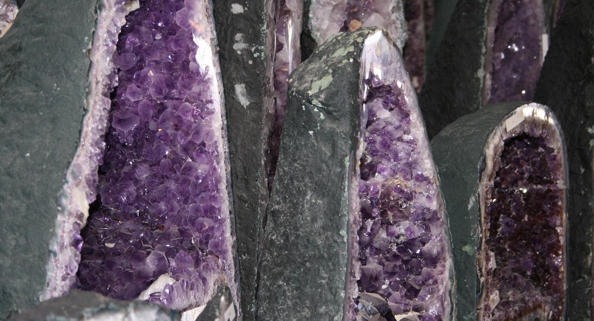 amethyst geodes Tucson gem shows