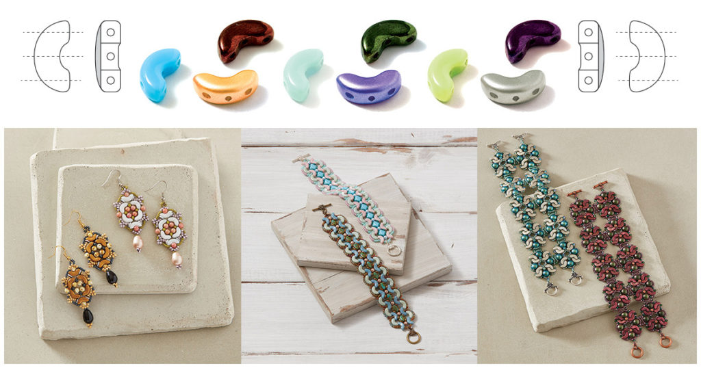 shaped beads arcos par puca beads beading projects