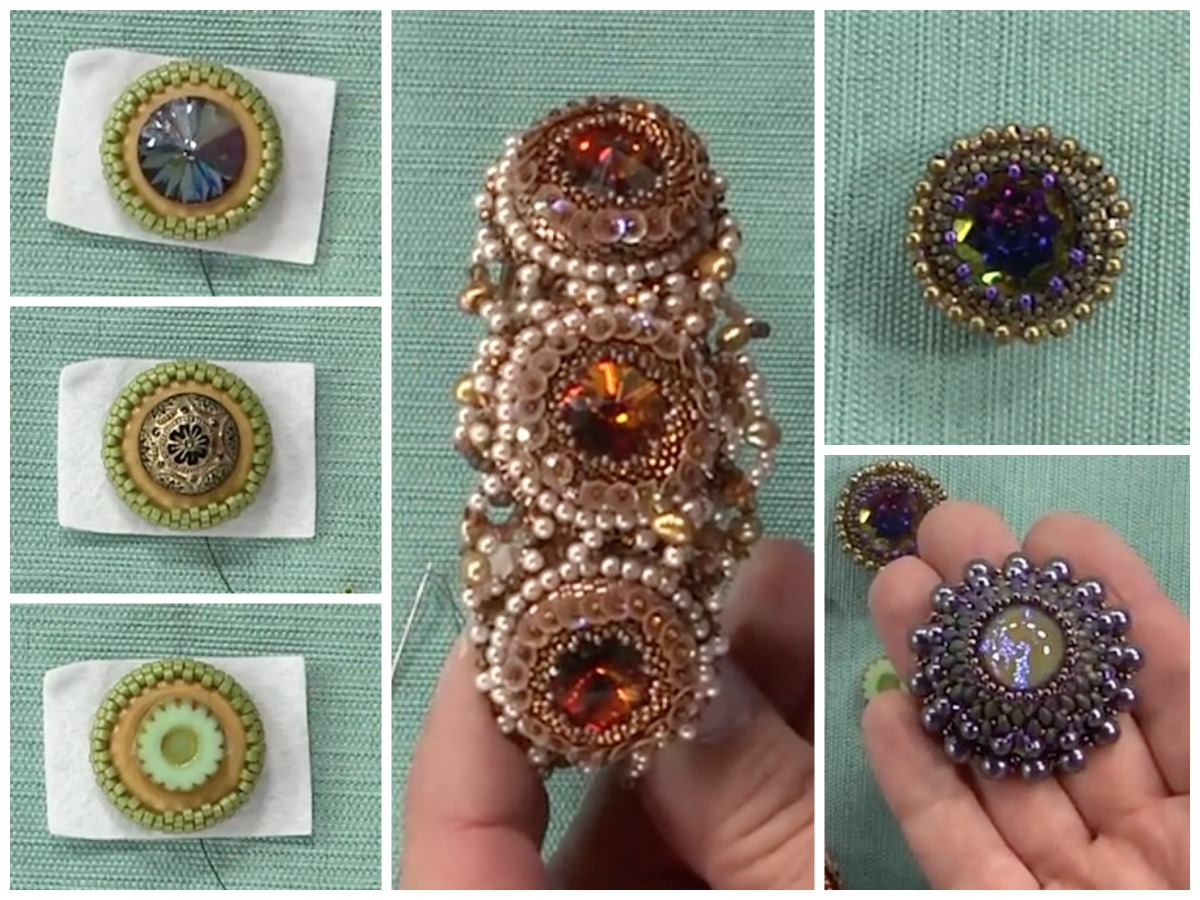 What do you get if you mix wooden armatures, circular peyote stitch, and attractive focal beads? Stunning embroidered designs! Follow along with Sherry – and you can do it too.