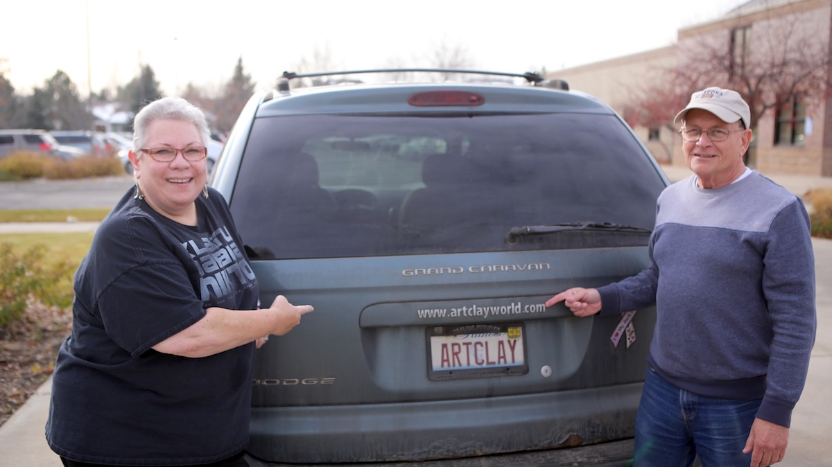 Jackie and her husband road trip all over the country for her events.