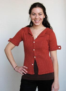 Knitting Gallery - Auburn Camp Shirt Annie