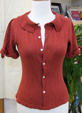 Knitting Gallery - Auburn Camp Shirt Bertha