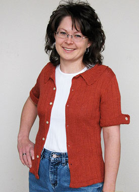 Knitting Gallery - Auburn Camp Shirt Debbie
