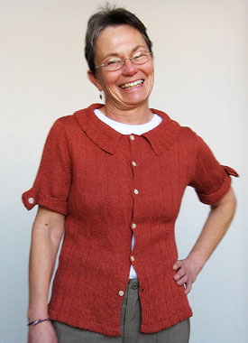 Knitting Gallery - Auburn Camp Shirt Trish