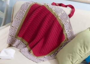 The Mari Nursing Wrap is a great crochet pattern that will give mothers privacy to nurse.