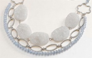 Summer Soiree Druzy Necklace by Ashley Lauwereins