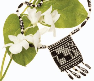 Make this beautiful beaded amulet bag with this free how to bead crochet ebook.