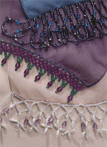 beaded scarf edging