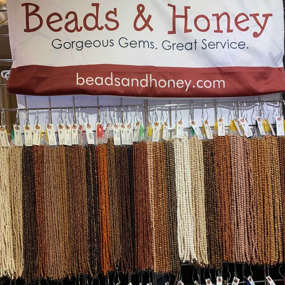 Beads on display at Beads & Honey booth