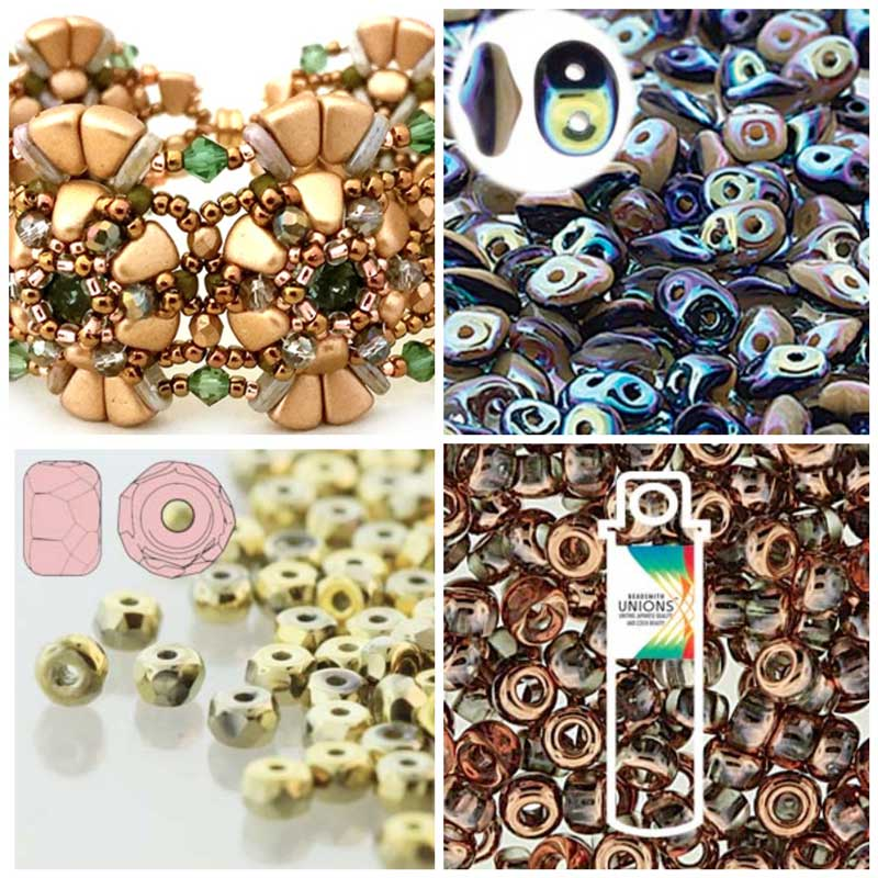 Jewelry-Making and Beading Supplies, Fun Finds, and Adventures From the Road. BeadSmith beads - SuperDuo Duets, micro faceted spacers, and new Japanese seeds beads with Czech coatings.