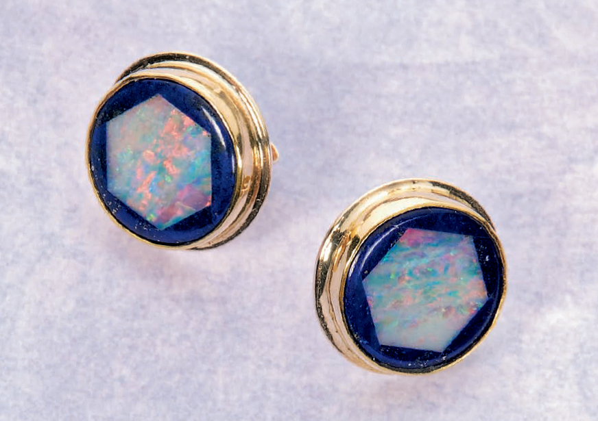 Of course, both women and men develop designs and make jewelry, sometimes together. Wife and husband Kay and Tom Benham made this pair of opal earrings together, which appeared in Simply Beautiful Bezels, Lapidary Journal Jewelry Artist January 2010. Photo: Jim Lawson