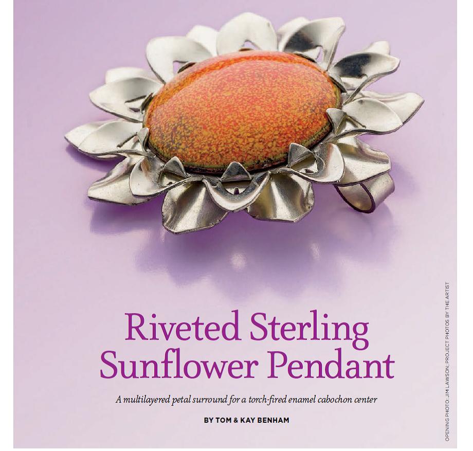 Benham riveted sunflower pendant