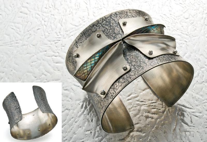 Jack Berry anticlastic fold-formed cuff bracelet