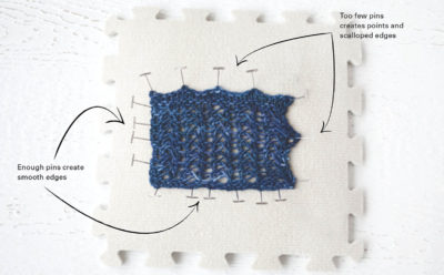cab56d72f How to Block Knitting Basics. Example of preparing knitted fabric for  blocking use blocking mats and blocking pins!