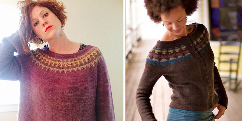 6b57127c4 L  The Freyja Sweater is a simple and contemporary Bohus yoke