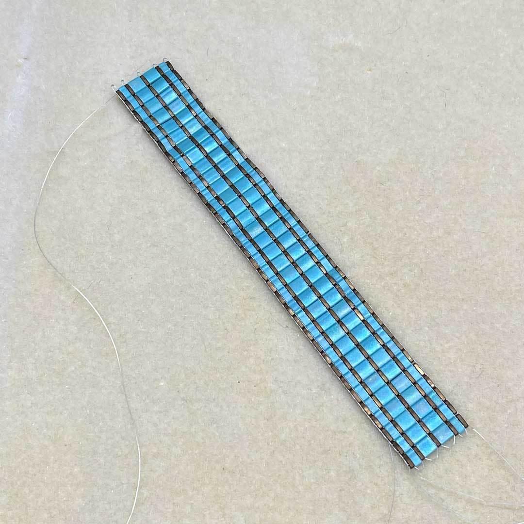 tila bead looming bracelet