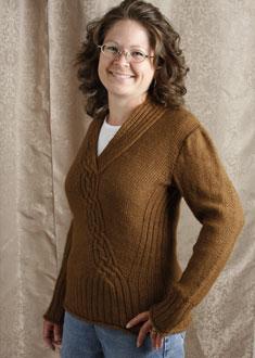 Knitting Gallery - Braided Pullover Debbie