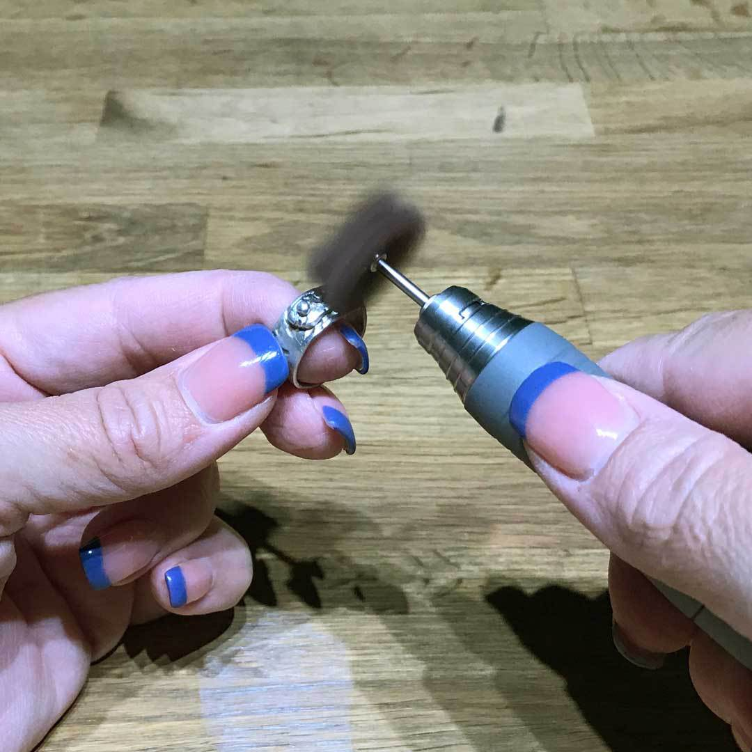 polishing with micro motor