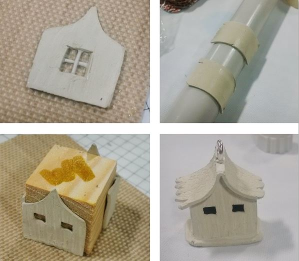 making a tiny metal clay house