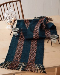 This runner is a great use for weaving metallic yarns.