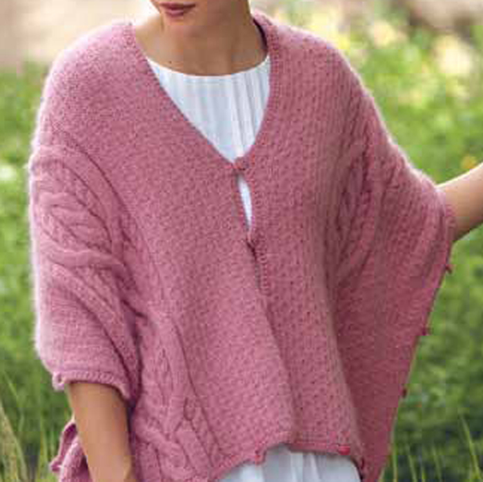 689cd36441d5b8 You ll love this FREE cable knitting shrug pattern  Five Way Cable Wrap.