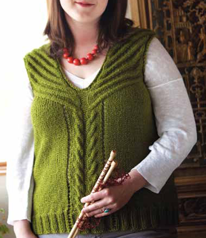 7aa8a75150a0a8 Learn to knit this beautiful cable knit vest is found in our free Knitted  Vest Patterns