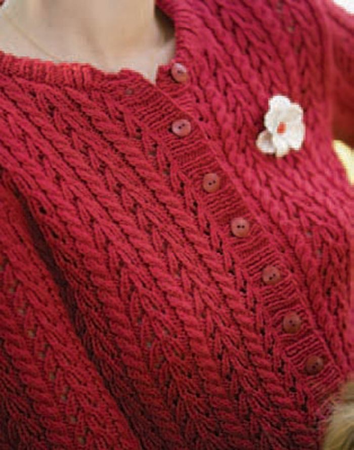 4e6d9e444 Learn how to make this soft cardigan knitted with lace and cables in this  free ebook