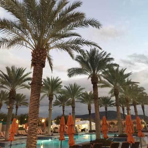 Sunset in Tucson over Casino Del Sol pool