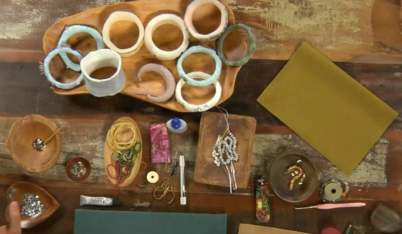 Carve, Color, and Embellish Cast Resin Bangles and Cuffs with Cynthia Thornton
