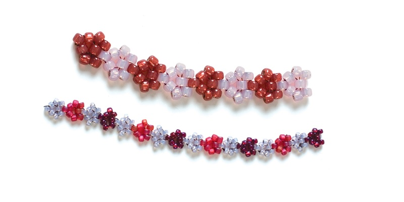 How to Stitch Chains of Love with Seed Beads, a Right-Angle Weave Variation