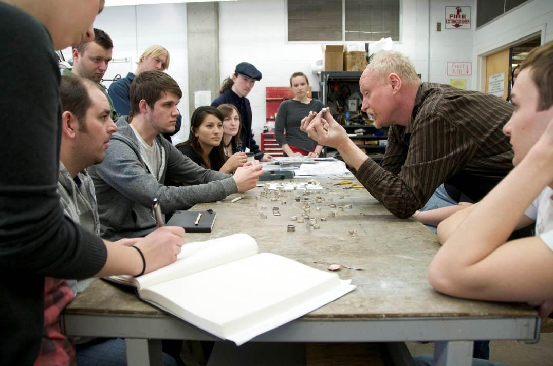 Charles Lewton Brain teaching jewelry classes