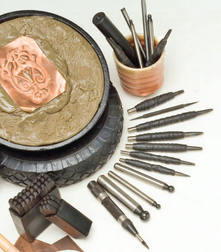 cbasing and repousse tools and setup