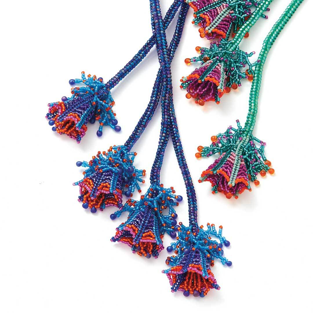 Monet's Lariat by one of Beadwork's Designers of the Year, Wendy Ellsworth
