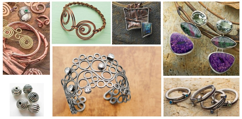 coiled curved spiral jewelry ideas
