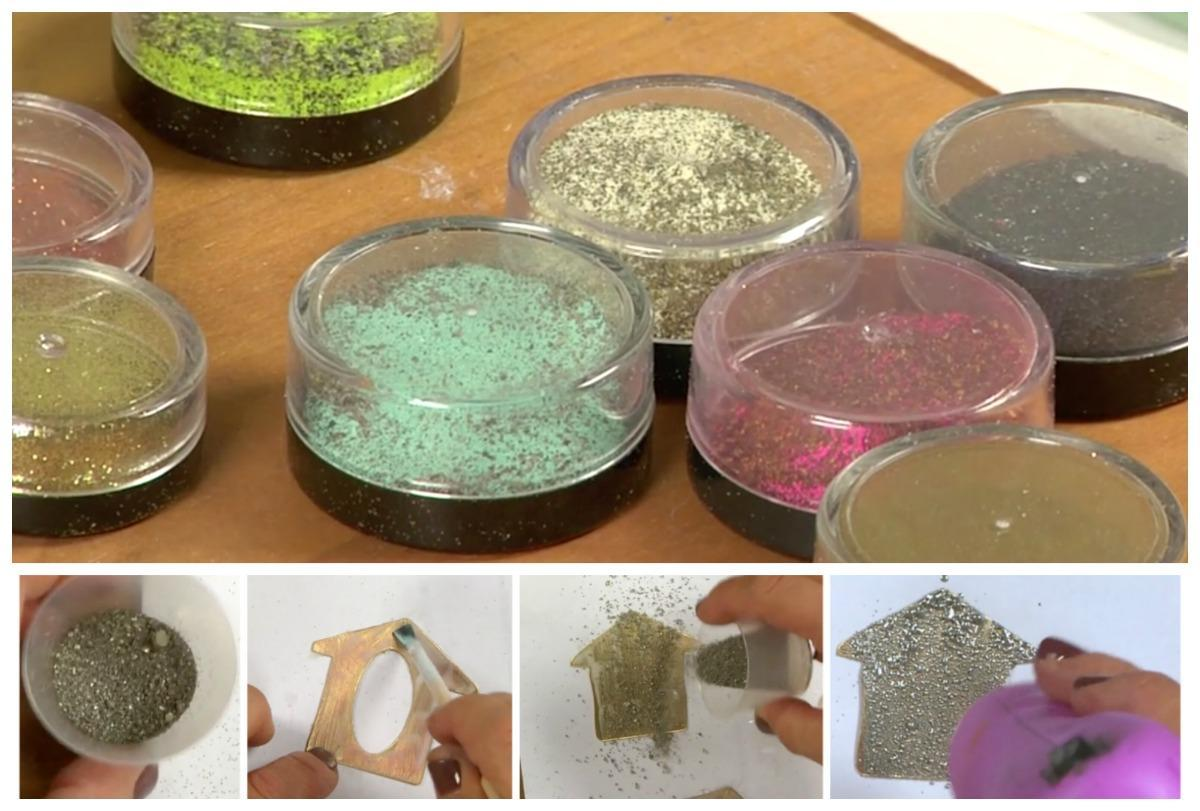 Cold enameling can be done with a heat gun.