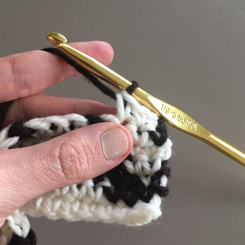 crochet color changes
