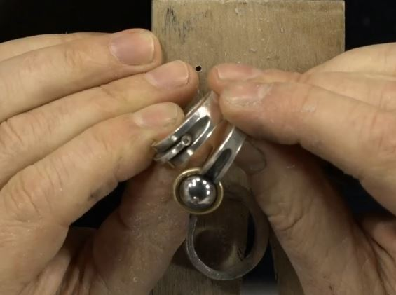 concave carved rings made using a flex shaft instead of casting