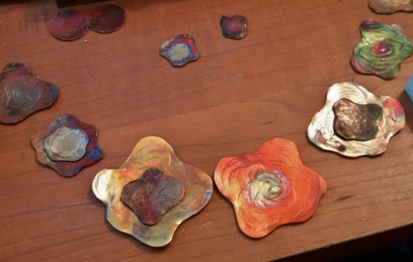 how to create heat patinas when making copper jewelry