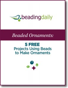 In our free Beaded Ornaments eBook you will receive 5 free projects teaching you how to use beads to make ornaments.